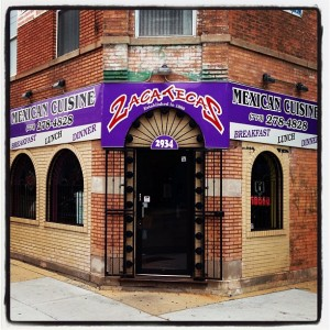 Glen and I had a hard time finding the giant, bright purple awning.